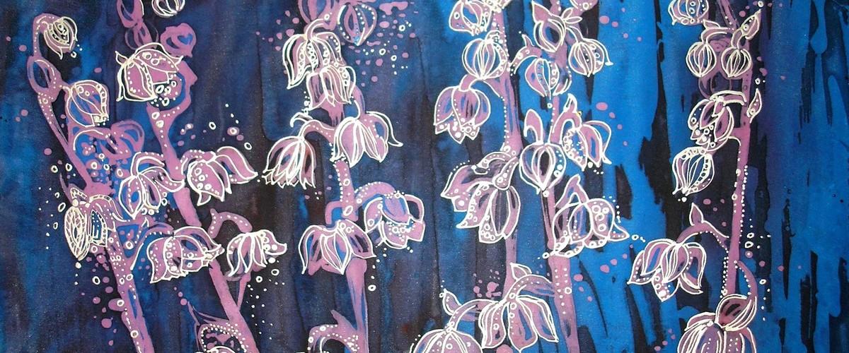Отдых в Крыму. Выставка батика Любавы Тарадай в Никитском ботаническом саду